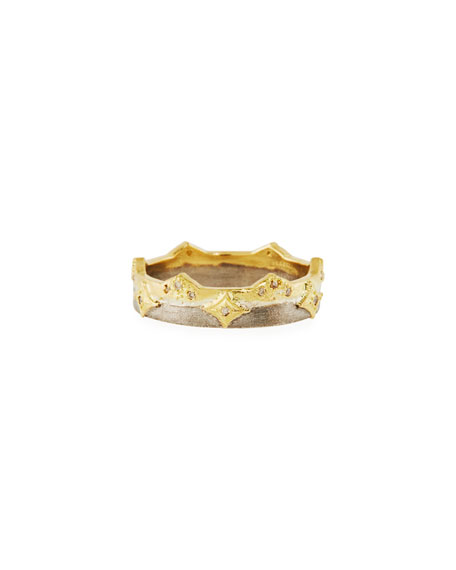 Armenta Old World Crivelli Wide Band Ring, Size 6-8