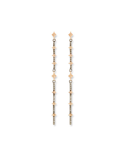 New World Diamond Crivelli Bar Earrings