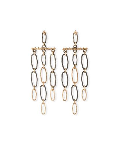 New World Oval-Link Dangle Earrings