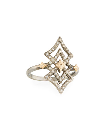 New World Open Diamond Crivelli Ring, Size 6.5
