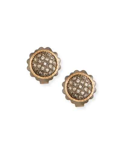 New World Diamond Pave Stud Earrings