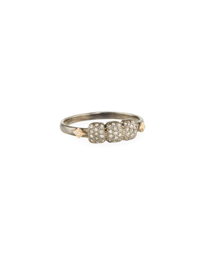 New World Diamond Cushion & Crivelli Ring
