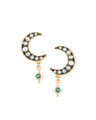Tribute Half-Moon Stud Earrings