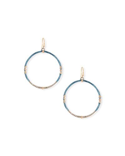 324917978 Quick Look. Armenta · New World Enamel & Diamond Hoop Earrings. Available  in Silver