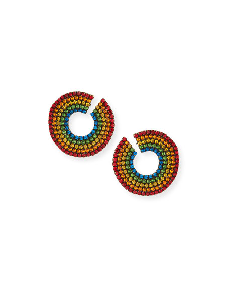 Auden Rainbow Crystal Curler Stud Earrings