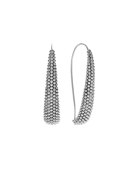 Lagos Signature Caviar Wire Drop Earrings