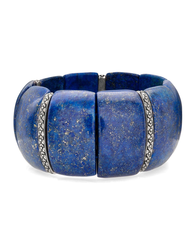STEPHEN DWECK Lapis & Flower Stretch Bracelet in Blue