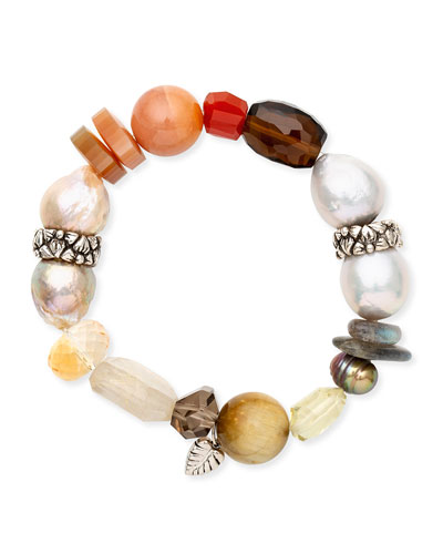Multi-Stone Stretch Bracelet