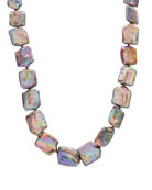 Stephen Dweck Dark Champagne Square Pearl Necklace
