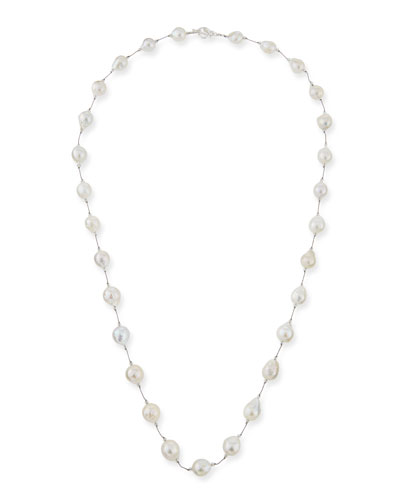 Grammercy Long Baroque Pearl Strand Necklace