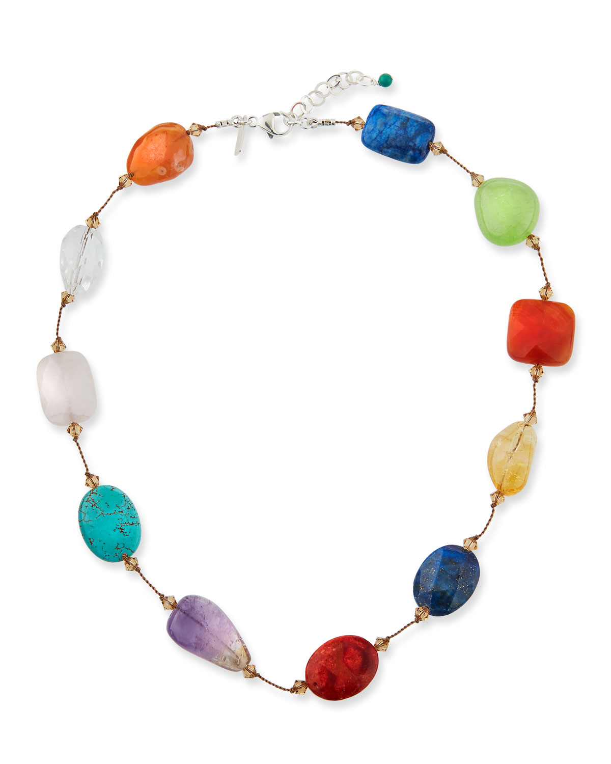 Crystal & Multi-Stone Necklace