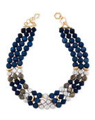 Akola Triple-Strand Chunky Bead Necklace