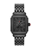 MICHELE 18mm Deco Madison Noir Diamond Watch