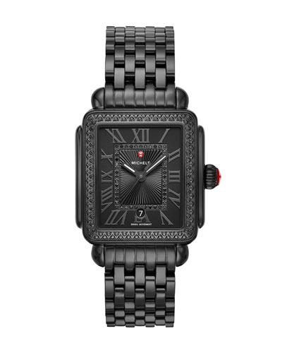 18mm Deco Madison Noir Diamond Watch