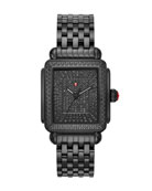 MICHELE 18mm Deco Noir Ultimate Pave Diamond Watch