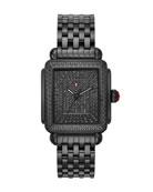 MICHELE 18mm Deco Noir Ultimate Pave Diamond Watch