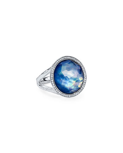 Stella Lollipop Ring in Royal Doublet with Diamonds, 0.23