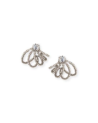 Crystal Lace Orbit Stud Earrings