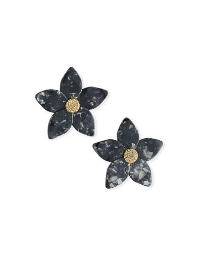 Adelissa Resin Flower Earrings