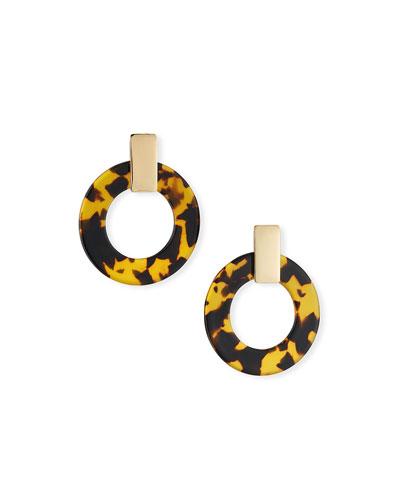 Torrie Resin Hoop Earrings