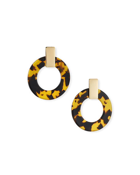 BaubleBar Torrie Resin Hoop Earrings
