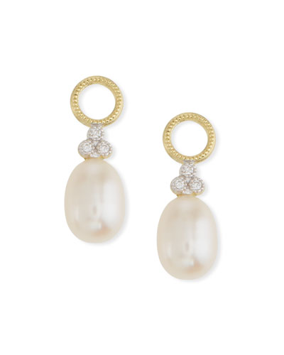 18k Gold Provence Pearl Briolette Earring Charms