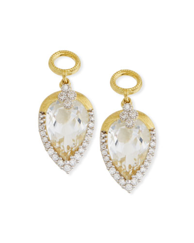 18k Gold Provence Delicate Topaz Pear Earring Charms