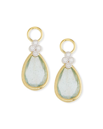 18k Gold Provence Pear Doublet Earring Charms