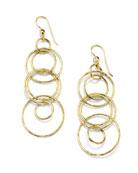 Ippolita Classico 18k Gold Jet Set Earrings