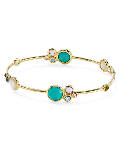 Lollipop 18k Gold & Mixed Stone Bangle