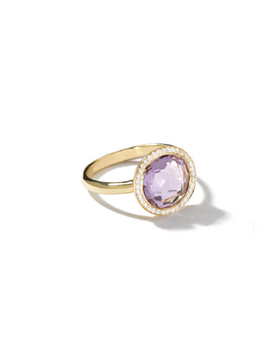 18K Gold Rock Candy Mini Lollipop Ring  with Diamonds