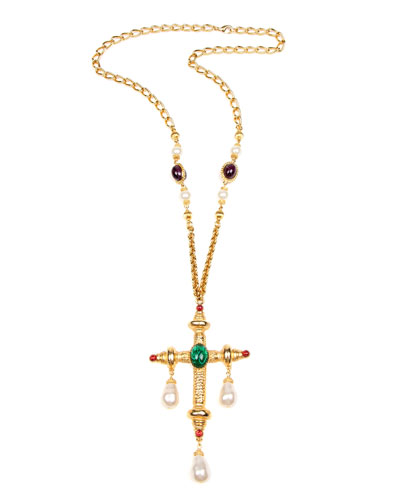 Cross & Dangle Pendant Necklace