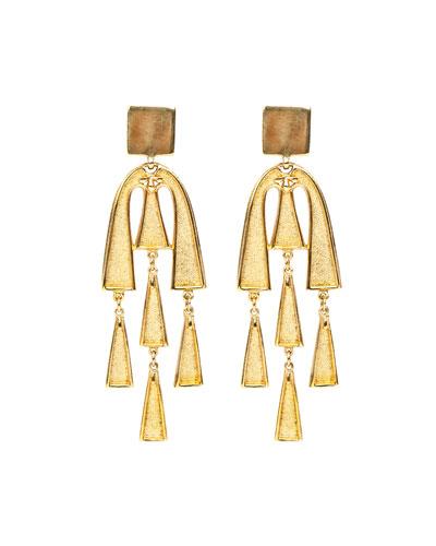 Square Top Dangle Earrings