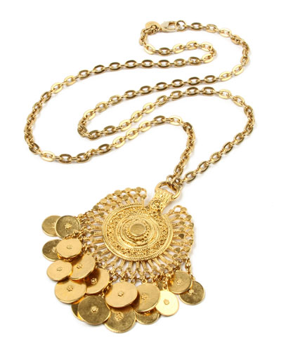 Coin-Dangle Pendant Necklace