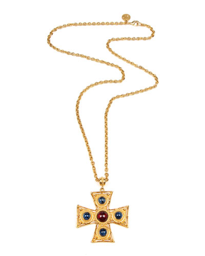 Square Cross Pendant Necklace