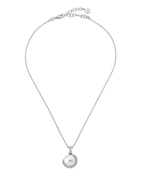 Majorica 12mm Pearl & Cubic Zirconia Pendant Necklace