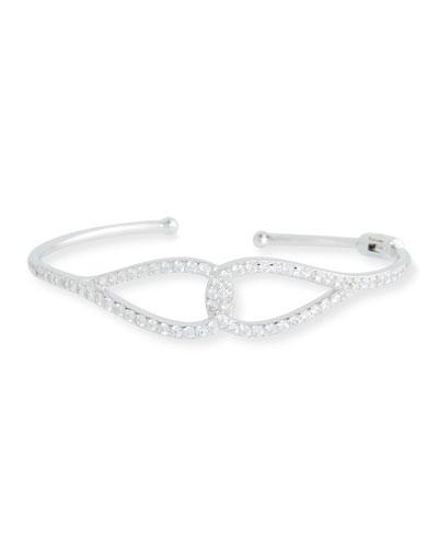 Infinity Cubic Zirconia Cuff Bracelet