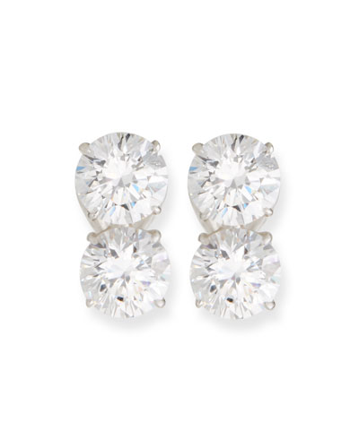 Quick Look Fantasia By Deserio Double Cubic Zirconia Earrings