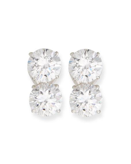 Fantasia by DeSerio 8 TCW Double Cubic Zirconia Earrings