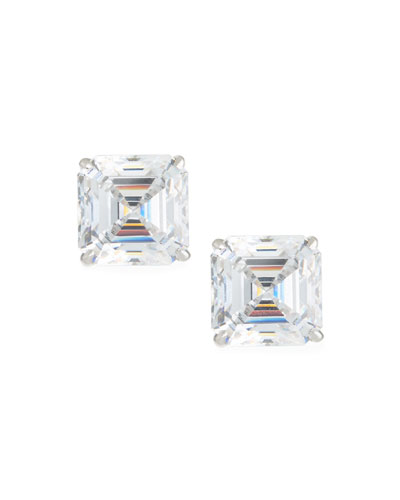 2c4fb03a5 Quick Look. Fantasia by DeSerio · Asscher-Cut Stud Earrings ...