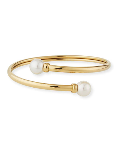 Coiled 9mm Pearl Bracelet
