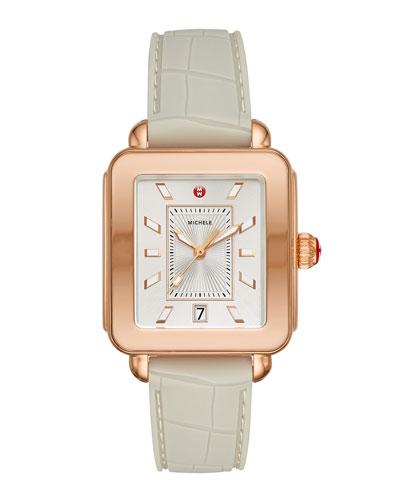 34mm Deco Sport Rose Golden/Alligator Watch