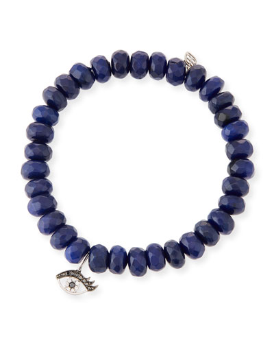 Jade & Diamond Evil Eye Bracelet