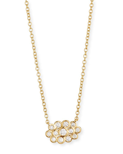 Starlet 18k Gold Diamond Mini Cloud Pendant Necklace