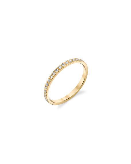 Sydney Evan 14k Gold Diamond Eternity Band, Size 6.5