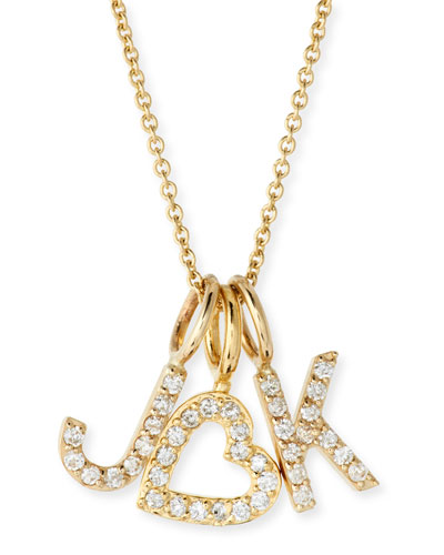 Amelia Layered Diamond Initial Necklace