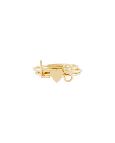 Mini Amelia Initial Stacking Ring