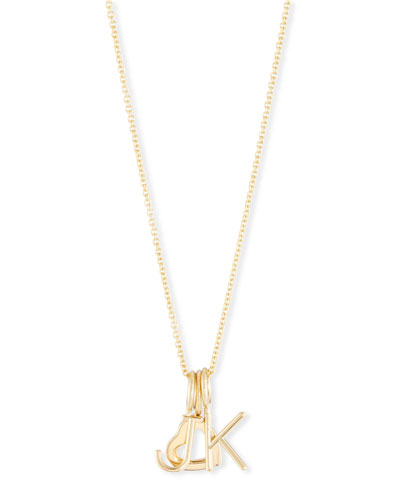 Mini Amelia Layered Initial Pendant Necklace