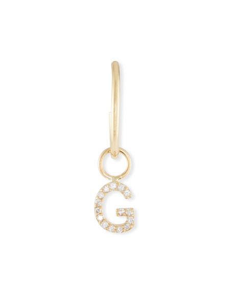 Sarah Chloe Mini Amelia Diamond Initial Drop Earring (Single)