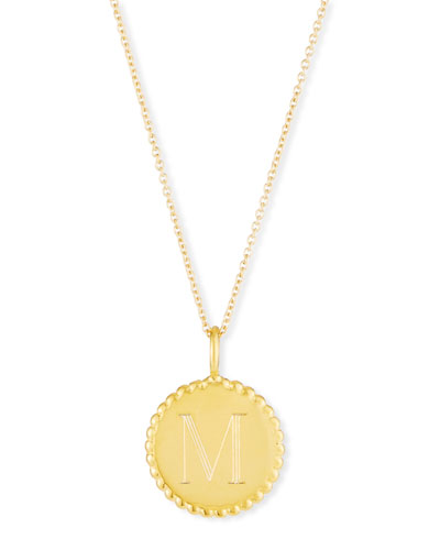Madi Engraved Initial Pendant Necklace